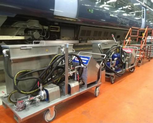 TBM, toilet tank services for UK rail fleet operators