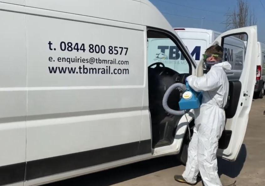 TBM sanitising spray machine